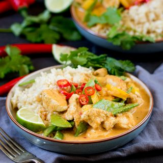 Healthier Red Thai Chicken Curry – without the shop-bought sauce!