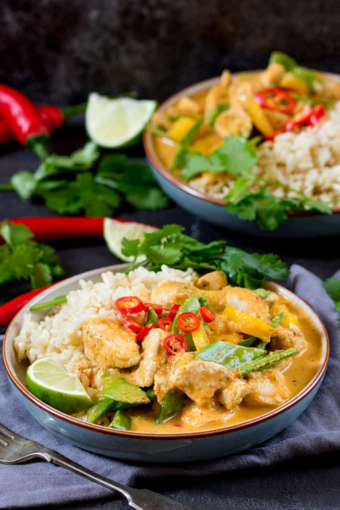 healthier red thai chicken curry without the shop bought