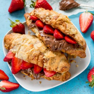 How To Turn Regular Croissants Into Almond Croissants (Then Stuff Them With Strawberries And Nutella!!)