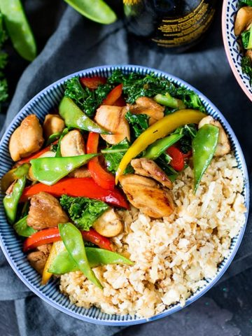 That Chinese take-away might be tempting, but this honey and garlic chicken stir-fry is just as tasty, and so much better for you!