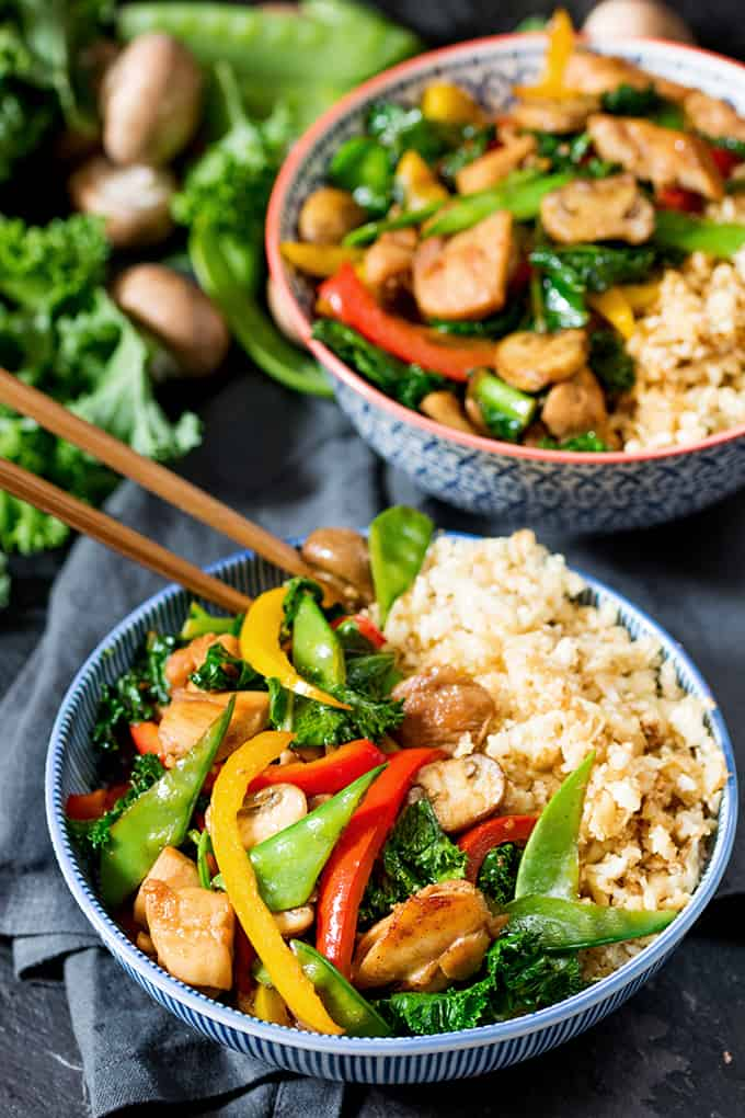 Honey And Garlic Chicken Stir Fry With Cauliflower Egg Fried Rice Nicky S Kitchen Sanctuary