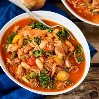 Pulled Pork and Bean Soup