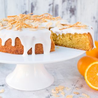 Orange Drizzle Cake with Candied Orange Peel