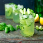 Gin and Cucumber Basil Smash - A light and fragrant cocktail you'll want to drink all through summer!