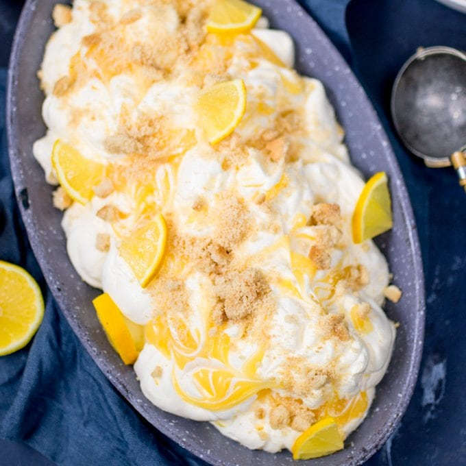 No-Churn Lemon Shortbread Ice Cream