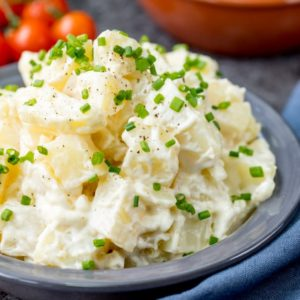 Easy Creamy Potato Salad -My dad's recipe that I've been eating (and making) for over 30 years!