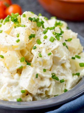 Easy Creamy Potato Salad - My dad's  recipe that I've been eating (and making) for over 30 years!