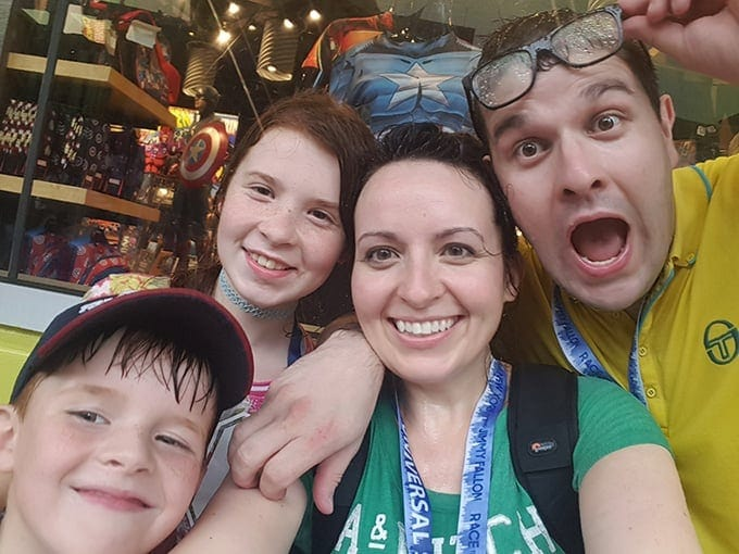 Wet family at universal Studios