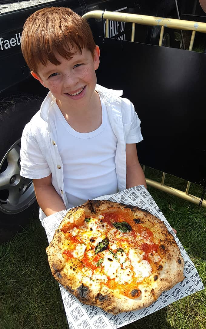 Wood fired pizza at the Big Feastival
