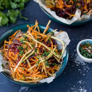 Vegetable Matchstick Fries with Homemade Herb Salt