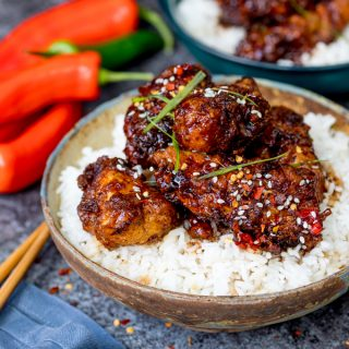 Chinese Crispy Chicken with Honey Garlic Sauce