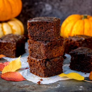 Pumpkin Gingerbread Cake with Sticky Whisky Glaze