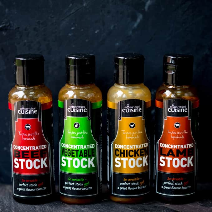 Four Different Essential Cuisine Liquid Stocks