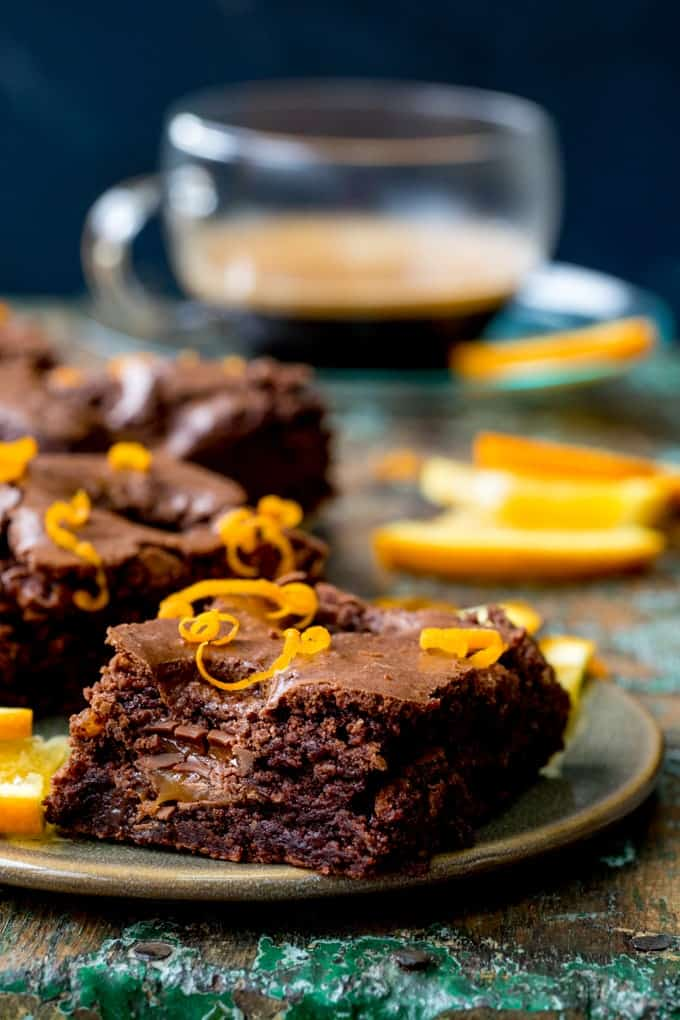 Gooey in the middle with a hint of zesty orange, these Chocolate Caramel Orange Brownies really hit the spot! Gluten free too!
