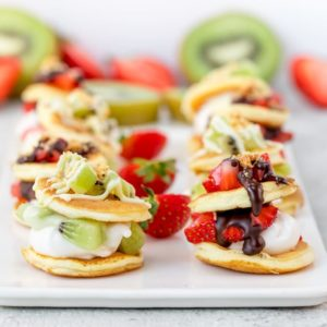 Fruity S'mores Marshmallow Blinis - A simple and sweet appetizer!