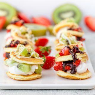 Fruity S'mores Marshmallow Blinis