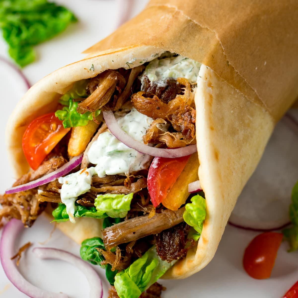 Crispy Pork Gyros With Homemade Tzatziki Nicky S Kitchen