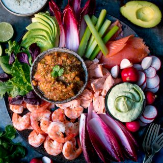 Seafood Party Platter with Three Dips