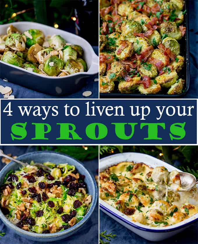 It wouldn't be Christmas without sprouts! But they can get boring pretty quickly. That's why we've put together 4 sprout recipes - each with it's own recipe video! #sproutrecipes #sproutswithatwist #sprouts #roastsprouts #parmesansprouts #balsamicsprouts #shavedsprouts #sproutsalad #sproutswithbacon