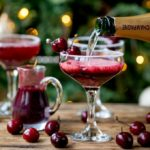 New Year's Eve Cocktail? Make the fruit puree ahead of time for this Black Cherry Bellini cocktail so you can serve up them up in super-quick time!