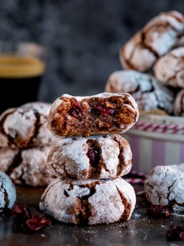 Making homemade Christmas gifts this year? Try my Chocolate Cranberry Amaretti Cookies! Naturally Gluten Free and super easy to make!