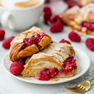 Quick Raspberry and Almond Croissants