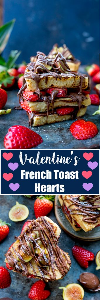Show that special person how much you love them with CHOCOLATE!! These are my Valentines Nutella French Toast Hearts!