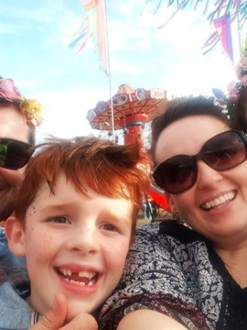 Nicky and family at the big feastival