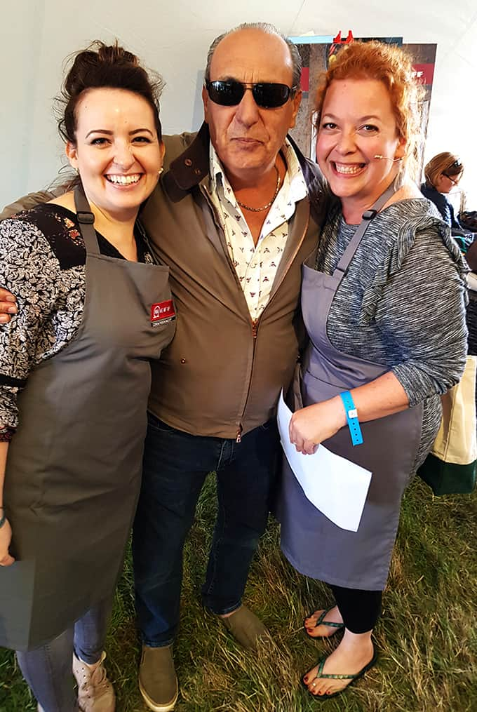 Nicky and Jane meeting Gennaro Contaldo