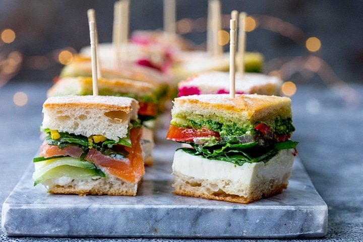 Wide image of mini sandwich bites