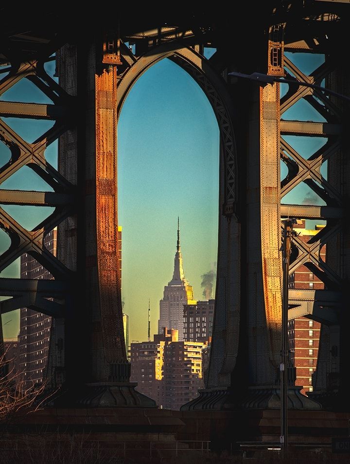 Empire State Building Through the Manhatten Bridge