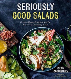 front cover of the seriously good salads book