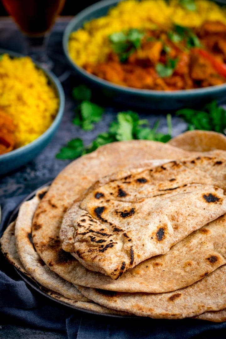 Close up of Chapati on a plate
