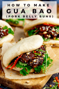 Gua Bao pork belly bun with another one in the background