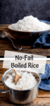 Two image collage of boiled rice