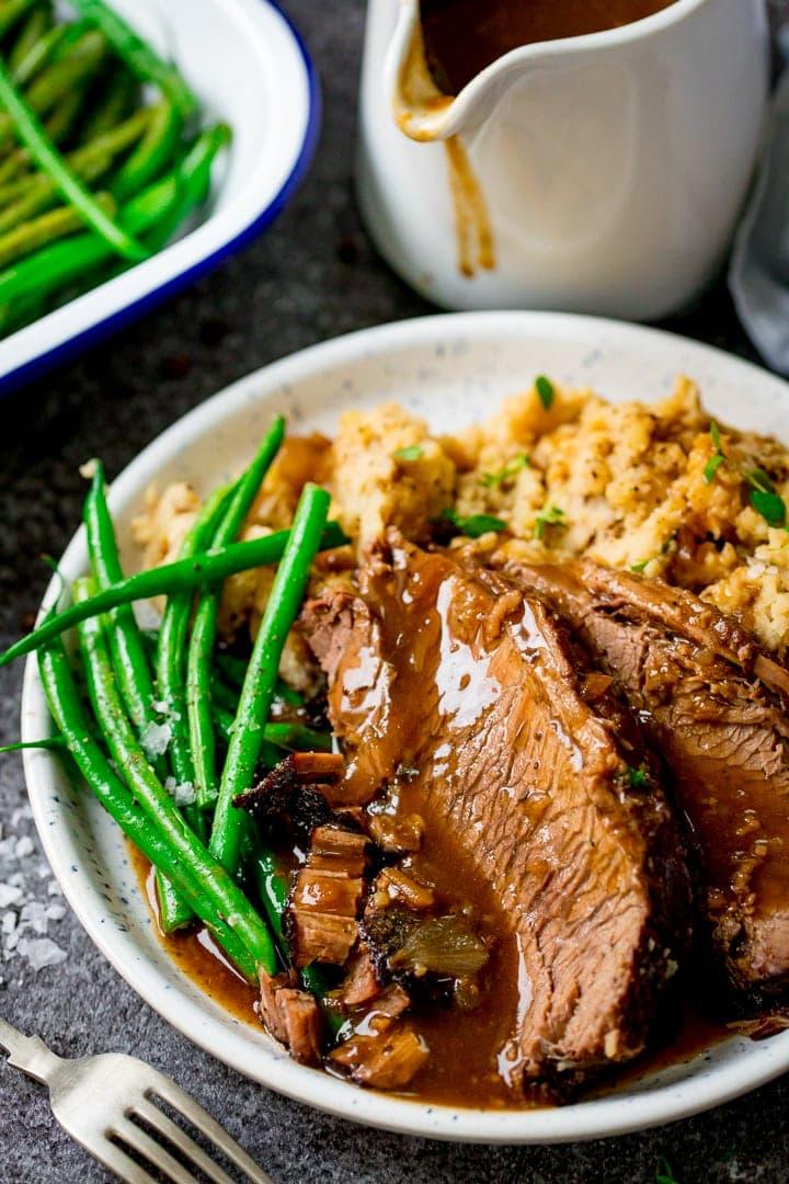 Slow Cooker Roast Beef Nicky S Kitchen Sanctuary