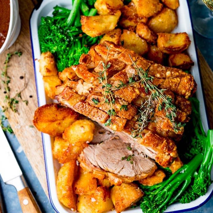 Roast Pork With Crackling Nicky S Kitchen Sanctuary