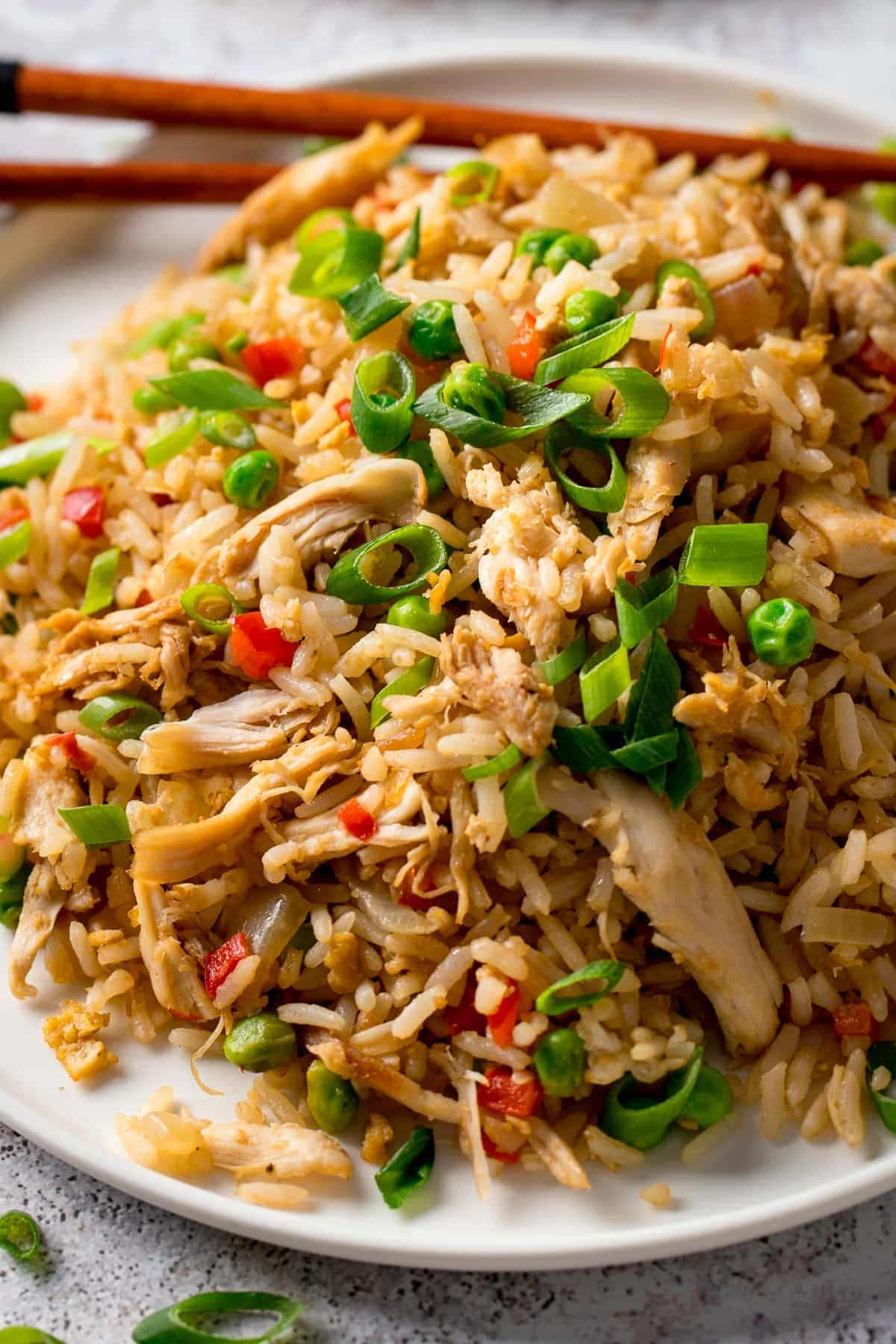 Close up image of Chicken Fried Rice