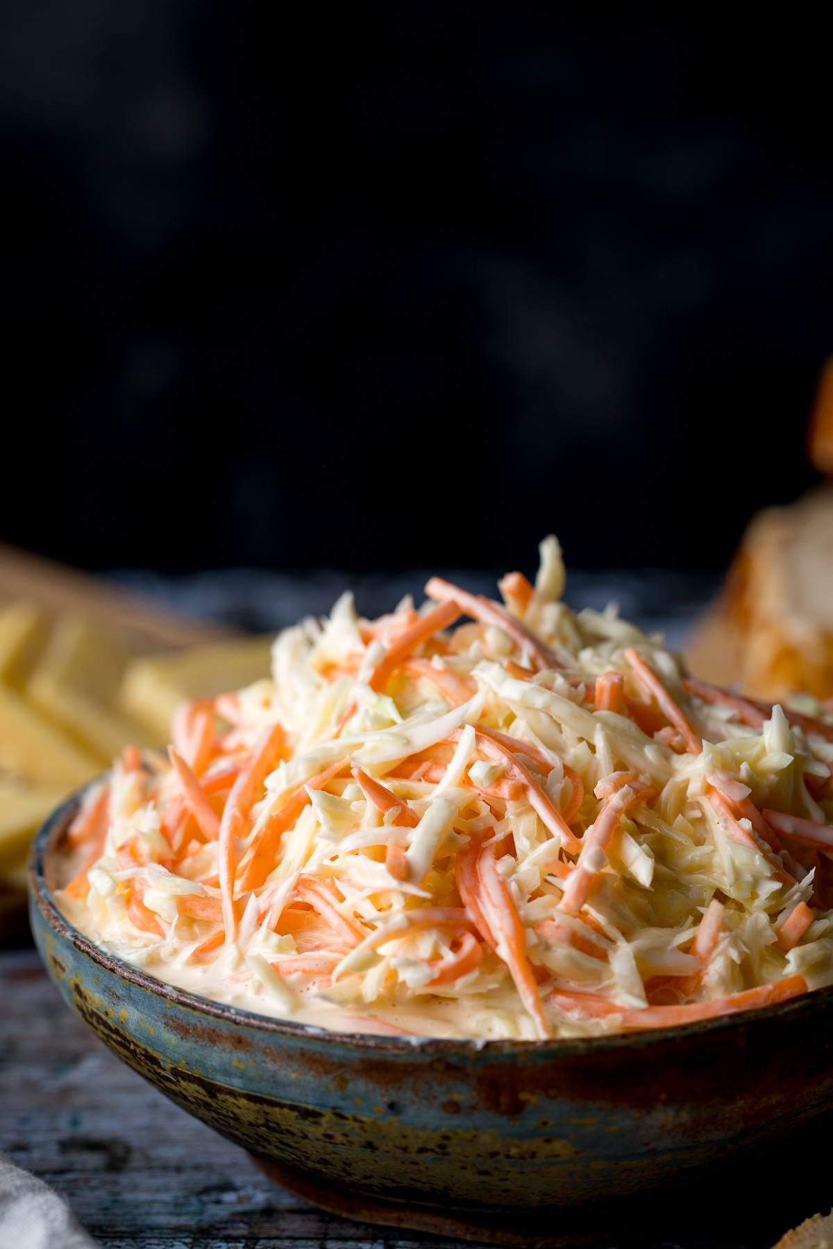 KFC style coleslaw in a bowl