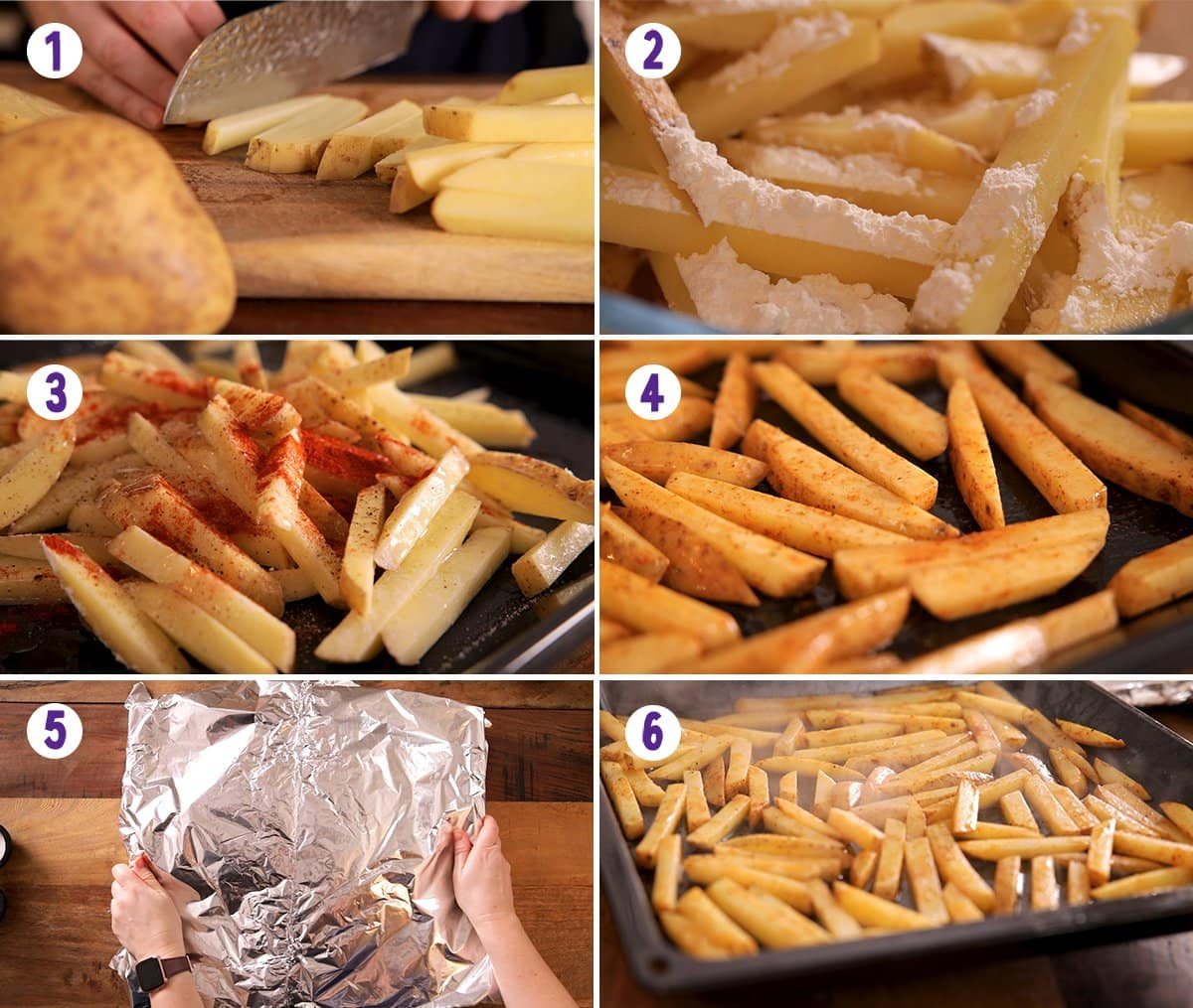 The process of making oven baked chips